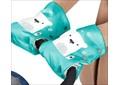 Рукавички для санок НИКА Мишка (изумруд)