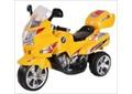 Электромотоцикл жёлтый