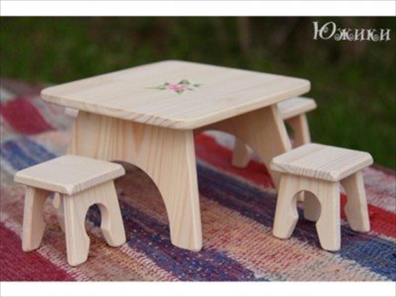 Круглый стол для кукол своими руками