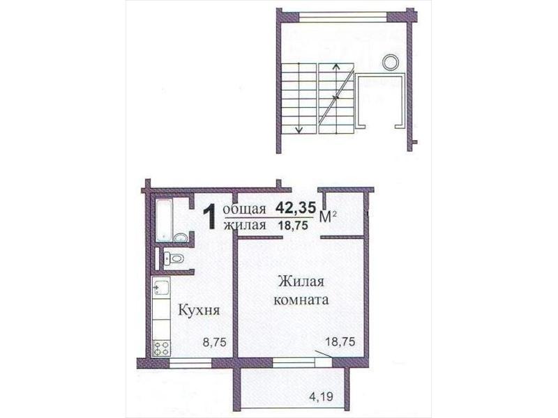 Продам квартиру в Челябинске 40-летия победы 30 площадью 43..